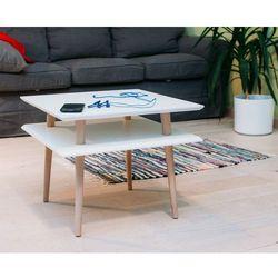 Stolik z drewnianymi nogami square średni marki Ragaba