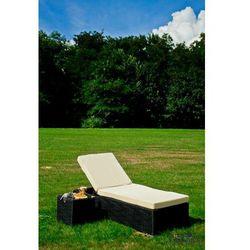 Łóżko ogrodowe ze stolikiem AMATO technorattan