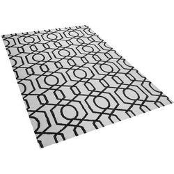 Dywan czarno-beżowy 160 x 230 cm krótkowłosy LAMIA (7105275059494)