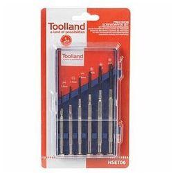 Toolland zestaw wkrętaków z precyzyjnymi końcówkami - 6 szt.