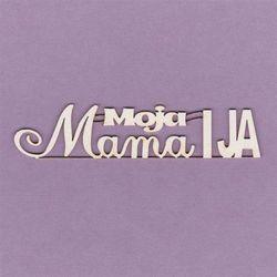Crafty moly Napis moja mama i ja - 10,2x2,2 cm - mmai