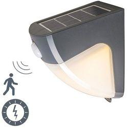 Lampa zewnętrzna LED Scout ciemnoszara na energię słoneczną (lampa zewnętrzna ścienna) od lampyiswiatlo.pl