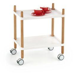 BAR10 stolik barowy biały / bukowy (1p=1szt), H_2010001162698