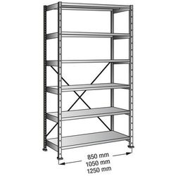 Przemysłowo-magazynowy regał wtykowy, wys. 2280 mm, 6 półek,szer. półki 1000 mm