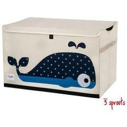 3 SPROUTS Zamykane pudełko na zabawki - Wieloryb