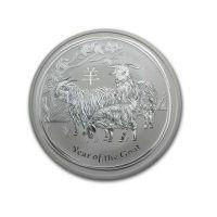 5 uncji Australijska Seria Księżycowa Rok Kozy 2015 - Srebrna Moneta