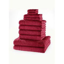 Bonprix Komplet ręczników (10 części) jeżynowy