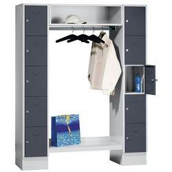 System garderob ze schowkami, 10 przedziałów na zewnątrz, 10 wieszaków na ubrani
