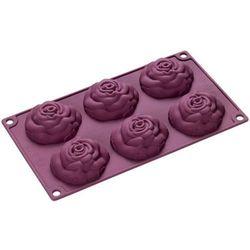Lurch Silikonowa forma na 6 ciasteczek róże  flexiform