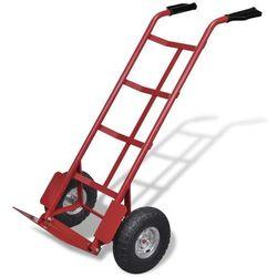 wózek na narzędzia czerwony/czarny, składany marki Vidaxl