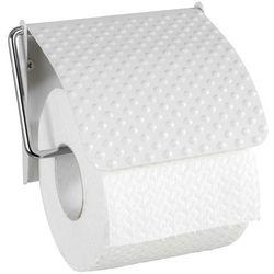 Dekoracyjny uchwyt na papier toaletowy punto white, wykonany z metalu, mocowany do ściany za pomocą śrub i kołków, biały, marka marki Wenko