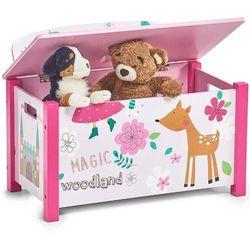 Skrzynia na zabawki girly - siedzisko, 2w1, marki Zeller