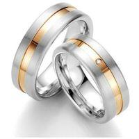 Obrączki ślubne z stali nierdzewnej z 14ct złotem oz1003 od producenta Altar®