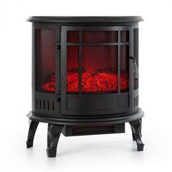 megeve, kominek elektryczny, ogień led-owy, termostat, przyciemniany, 1850 w, czarny marki Klarstein