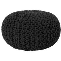 Beliani Pufa czarna - hoker - podnóżek - otomana - 40x25 cm - conrad (4260580921959)