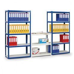 B2b partner Regał - laminowane półki - 1800x900x600 mm, 375 kg, niebieski