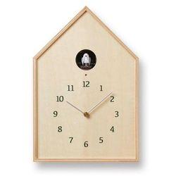 Zegar ścienny z kukułką Birdhouse naturalny
