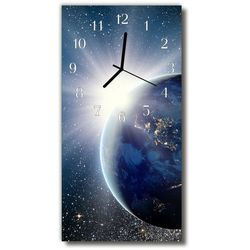 Zegar Szklany Pionowy Planeta Wszechświat ziemi niebieski