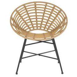 Beliani krzesło rattanowe jasnobrązowe acerra (4251682216159)