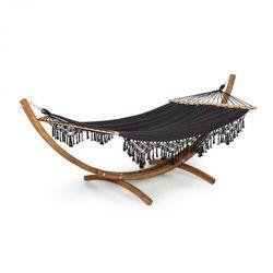 bali swing, hamak, drewno modrzewiowe, maks. 160 kg, 320 g/m², czarny marki Blumfeldt