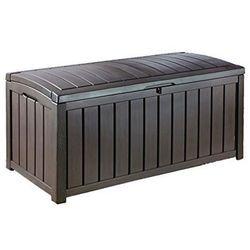 Skrzynia ogrodowa glenwood 390 l - brązowa marki Keter