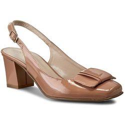 Sandały SAGAN - 2284 Nude Lakier
