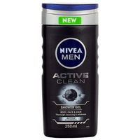 men active clean shower gel 250ml m żel pod prysznic marki Nivea