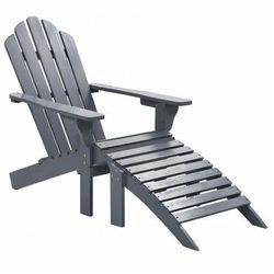 Drewniane krzesło ogrodowe Falcon - szare, vidaxl_45700
