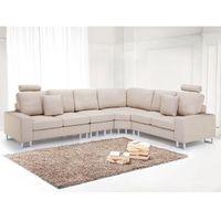 Sofa tapicerowana - kanapa z 100% poliestru beżowa - stockholm marki Beliani