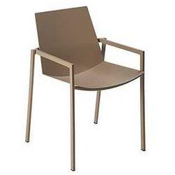 Krzesło ogrodowe do restauracji hotelowej Mendes Fermob kawowe - produkt z kategorii- Krzesła ogrodowe