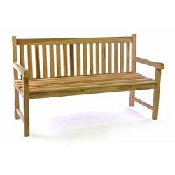 Ławka ogrodowa DIVERO 3-osobowa drewniana 150 cm