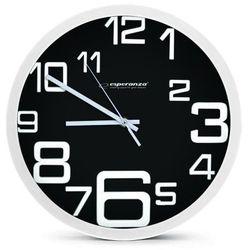 Esperanza zegar ścienny milan czarny (ehc017k) darmowy odbiór w 21 miastach! (5901299930106)