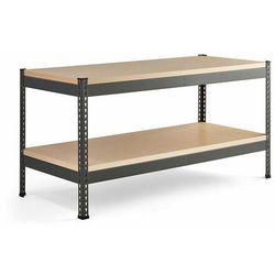 Stół warsztatowy combo, utwardzana płyta, półka dolna, 1840x775x1530 mm marki Aj produkty
