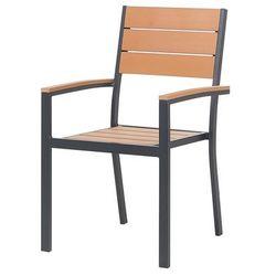 Krzesło ogrodowe brązowe PRATO