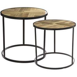 Okrągłe stoliki kawowe, stoliki do kawy, stolik do salonu, czarny stolik, stoliki kawowe nowoczesne, zestaw stolików, małe stoliki (3560234477742)
