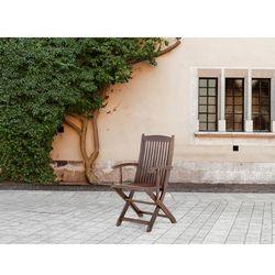 Beliani Krzesło ogrodowe - z podłokietnikami - ogród - meble ogrodowe - maui