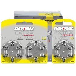 30 x baterie do aparatów słuchowych  extra advanced 10 mf, marki Rayovac