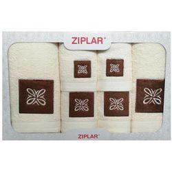 KOMPLET ręczników 6 szt. ZIPLAR ekri, ZR02-2-01