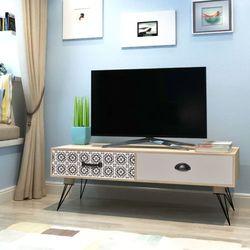 vidaXL Stolik pod telewizor brązowy 100x40x35 cm