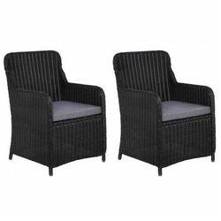 Elior Fotele polirattanowe ogrodowe grafton 2 szt - czarne