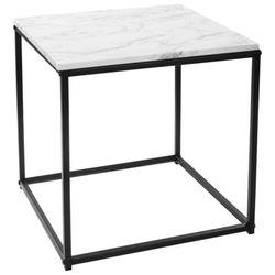 Atmosphera créateur d'intérieur Kwadratowy stolik kawowy na metalowych nogach, stolik do kawy, stolik do pokoju, stolik do salonu, czarny stolik, biały stolik