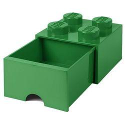POJEMNIK LEGO 4 Z SZUFLADĄ CIEMNOZIELONY - LEGO POJEMNIKI, 4005