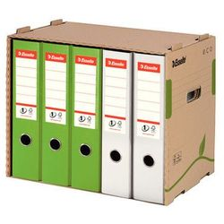 Pudło archiwizacyjne otwierane z boku na segregatory Esselte Eco (427x343x305)