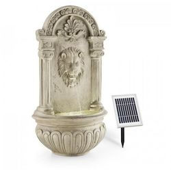 löwenstein ogrodowa fontanna ścienna 2 w panel solarny led polyresin imitacja kamienia marki Blumfeldt