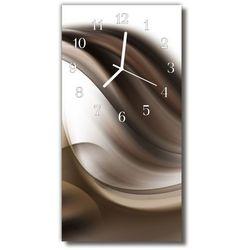 Zegar Szklany Pionowy Sztuka Abstrakcja grafika beżowy, kolor beżowy
