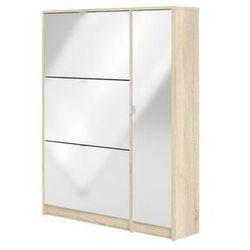 Szafka na buty uruti – 1-drzwiowa, z 3 półkami – kolor dębowy i biały marki Vente-unique.pl