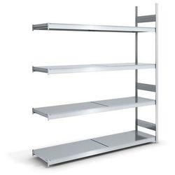 Regał wtykowy o dużej pojemności z półkami stalowymi,wys. 2500 mm, szer. półki 2000 mm marki Hofe