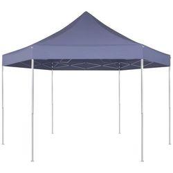 Vidaxl  szesciokątny namiot ogrodowy granatowy 3,6x3,1 m
