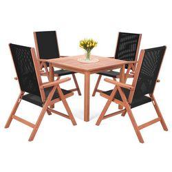 Home&garden Meble ogrodowe drewniane meranti square black