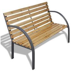 vidaXL Drewniana ławka z metalową ramą - sprawdź w wybranym sklepie